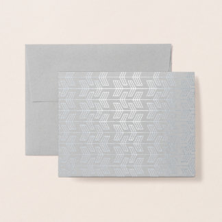 Thank You Silver Arrow Pattern Foil Card