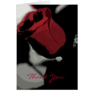Thank You - Single Rose (Abstract) Card