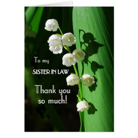 Thank You, Sister-in-Law, Lily of the Valley Card