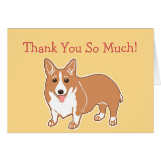 Thank You So Much Corgi Card