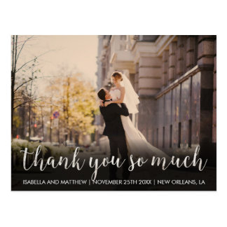 Thank You So Much | Cute Customizable Photo Postcard