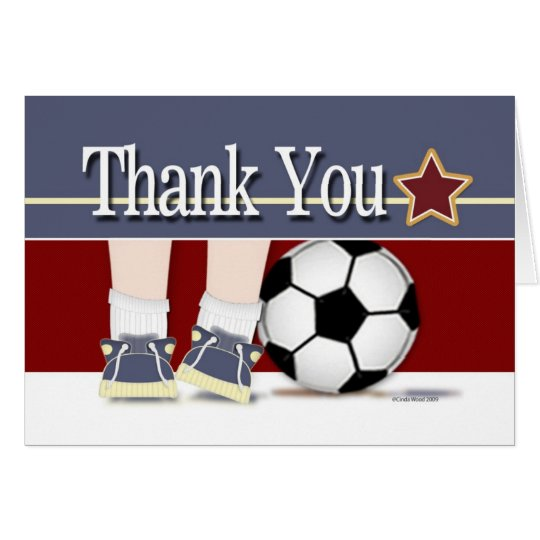 Thank You Soccer Card Template   Zazzle.ca
