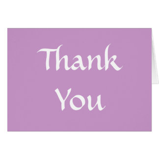 Thank You. Soft Dusky Purple and White. Greeting Card