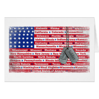 Thank You Soldier Dog Tags Card