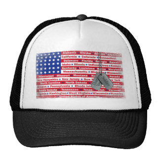 Thank You Soldier Dog Tags Trucker Hat