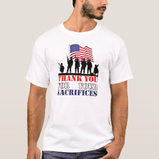Thank You Soldiers Veterans Day T-Shirt