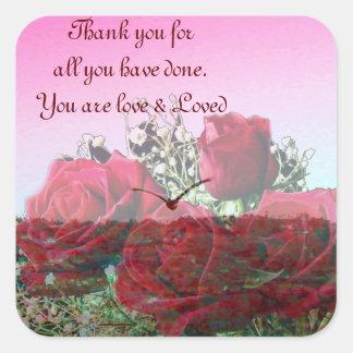 Thank You_ Square Sticker
