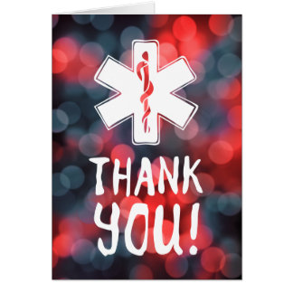 thank you star of life card
