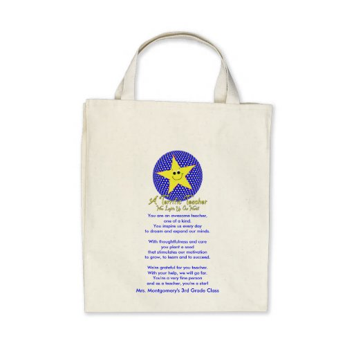 Thank You Star Teacher Poem Bags