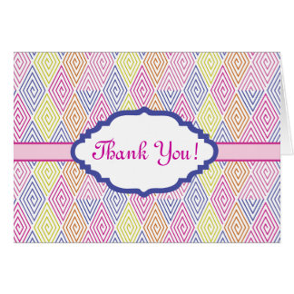 Thank you stationery card