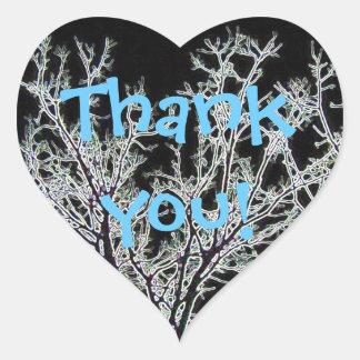 THANK YOU HEART STICKER