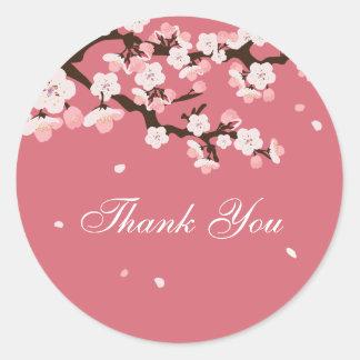Thank You Sticker / Cherry Blossoms / Customizabe