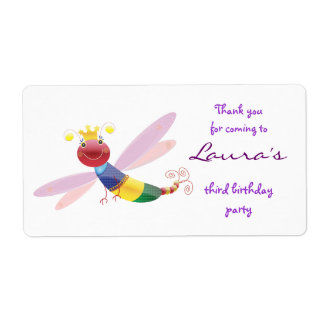 Thank you sticker: Dragonfly Shipping Label