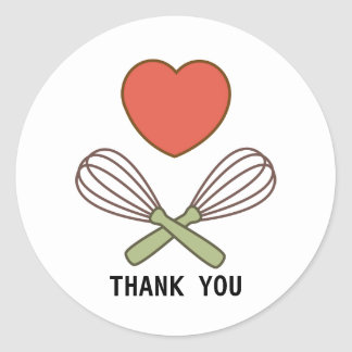 Thank you Sticker for Cooks and Bakers