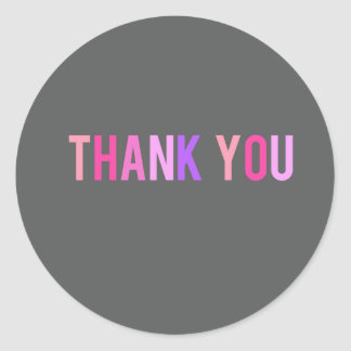 Thank You Sticker Label - Modern Pinks & Purples