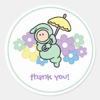 Thank You Sticker - Umbrella baby