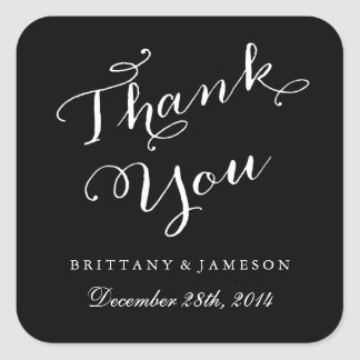 Thank You Sticker Wedding Favors