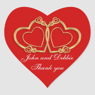 Thank you stickers for wedding favors