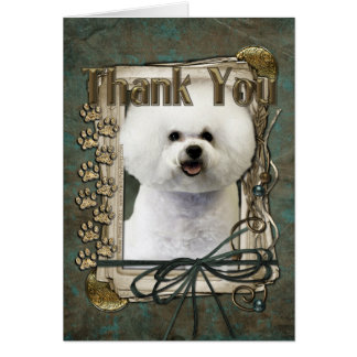 Thank You - Stone Paws - Bichon Frise Card
