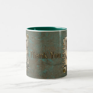 Thank You - Stone Paws - Siberian Husky Copper Dad Two-Tone Coffee Mug