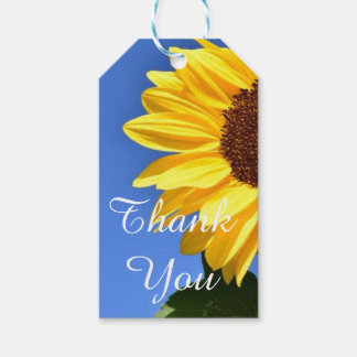 Thank You  Sunflower Gift Tag Pack Of Gift Tags