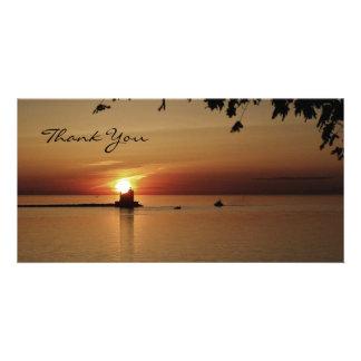 Thank You Sunset Lighthouse Card