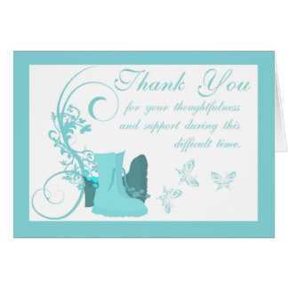 Thank You Sympathy ,Loss of Military Person, boots Greeting Card