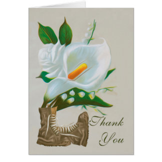 Thank You Sympathy , Loss of Military Persons Greeting Card