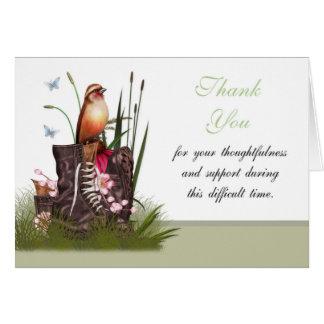 Thank You Sympathy , Loss of Military Serviceman / Greeting Card