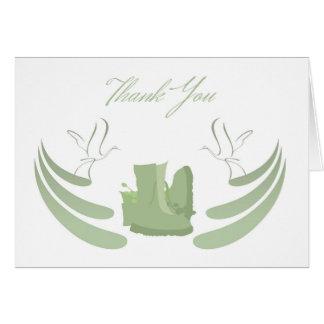 Thank You Sympathy , Loss of Military Serviceman Greeting Card