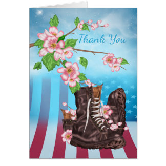 Thank You Sympathy , Military Service person Greeting Card