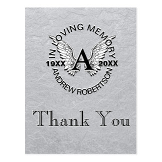 Thank You | Sympathy | Silver Postcard