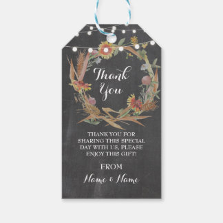 Thank you Tag Fall in Love Lights Chalk Wedding Pack Of Gift Tags