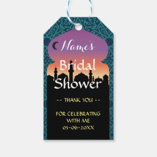 Thank you Tag Favour Arabian Nights Bridal Shower Pack Of Gift Tags