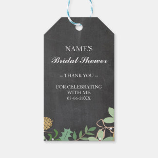 Thank you Tag Favour Chalk Foliage Bridal Shower Pack Of Gift Tags