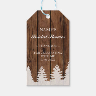 Thank you Tag Favour Wood Trees Xmas Bridal Shower Pack Of Gift Tags