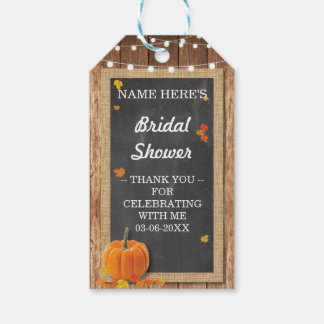 Thank you Tag Floral Chalk Pumpkin Bridal Shower