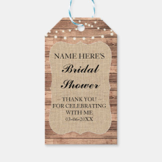 Thank you Tag Floral Favour Burlap Bridal Shower