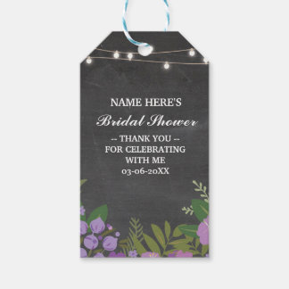 Thank you Tag Floral Favour Chalk Bridal Shower Pack Of Gift Tags