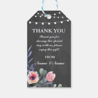 Thank you Tag Rustic Favour Tags Chalk Wedding