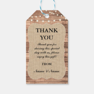 Thank you Tag Rustic Wood Favour Tags Wood Wedding