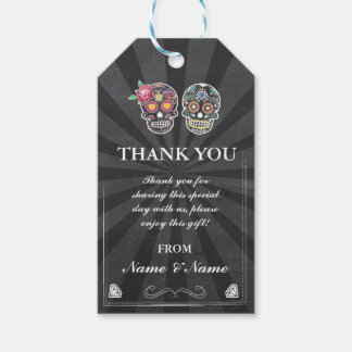 Thank you Tag Sugar Skusl Favour Tag Chalk Wedding