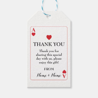 Thank you Tag Wedding Playing Cards Ace of Hearts
