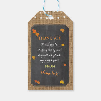 Thank you Tag Winter Fall In Love Bridal Shower