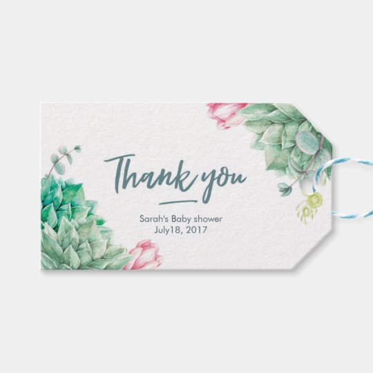 Thank you tags | Favour tags | succulent flowers