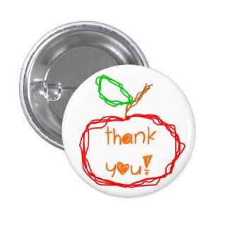 Thank You Teacher 1 Inch Round Button