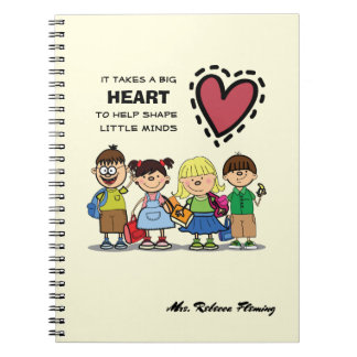Thank You, Teacher. Custom Name Gift  Notebooks
