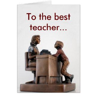 thank you teacher greeting card