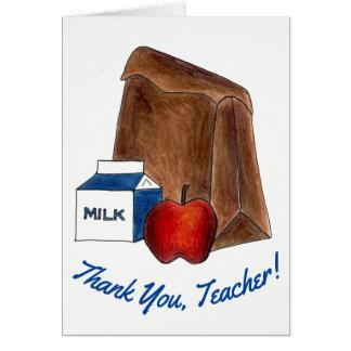 Thank You, Teacher! School Bag Lunch Milk Apple Card