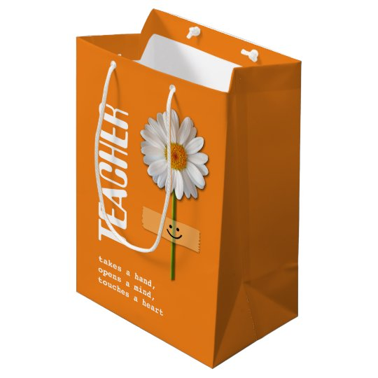 Thank You, Teacher. Smiling Daisy Gift Bags